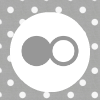 grey white polka dot flickr social media icon